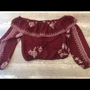Charlotte Russe Crop Top Size Large